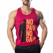 No Pain No Gain Tank Top Atlet Kırmızı - XLarge